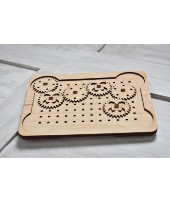 Deska s ozubenými kolečky